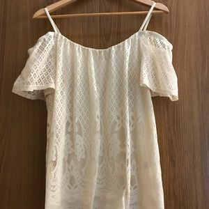 Maurice's Lace White Top Size 0